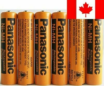Panasonic HHR-75AAA/B-6 Ni-MH Rechargeable Battery for Cordless Phones, 700 m...