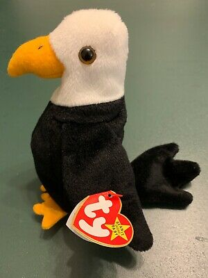 RARE TY BEANIE Baby Baldy The Bald Eagle With Errors -  115.00 ... 248a8e21d9f6