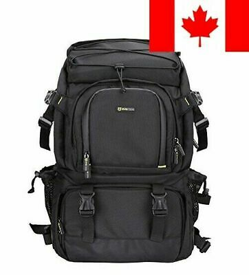 Evecase Extra Large Professional DSLR Camera & Laptop Travel Backpack Gadget ...