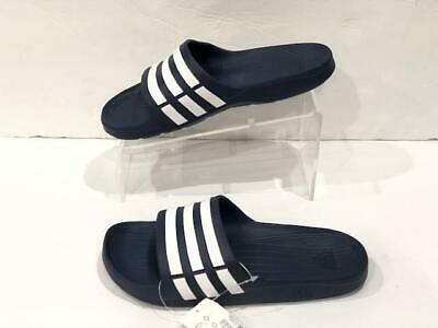 858bc17417cfc ADIDAS DURAMO SLIDE Navy White Lifestyle Sports Sandals Slippers ...