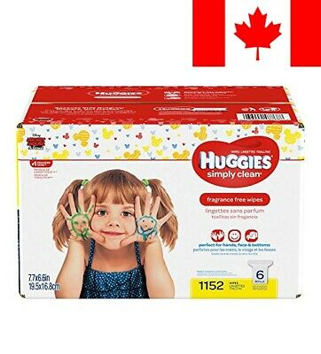 Huggies Simply Clean Fragrance-free Baby Wipes, Refill Pack, 1152 Count