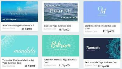 100 Yoga Business Cards custom Double sided printing