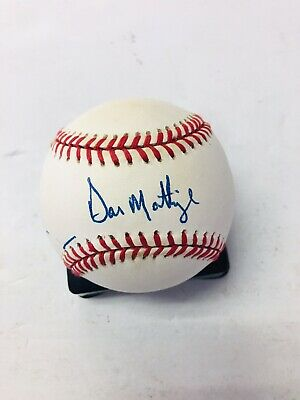 ec0753a2105 New York Yankees Don Mattingly Signed Autograph Baseball Authenticate