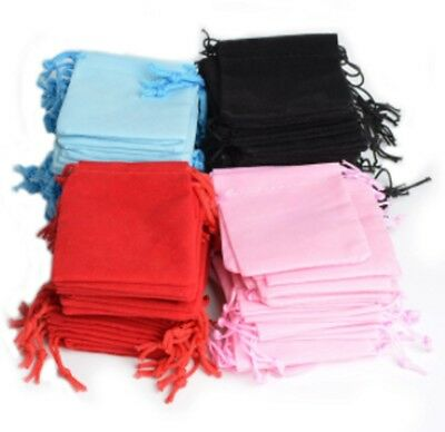 7x5 cm Velvet Jewellery Gift Bag Birthday Christmas Wedding Drawstring Pouch