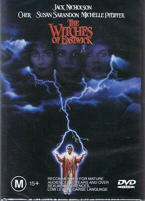 THE WITCHES OF EASTWICK DVD Jack Nicholson, Cher, Susan Sarandon NEW & SEALED