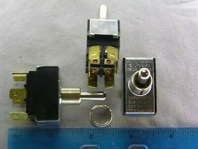 2 Carling 80,000 Series E60272 LR39145 2GM51-73 DPDT ON-OFF-ON Toggle Switches