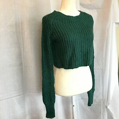6675e861d URBAN OUTFITTERS KIMCHI Blue - Black Cropped Sweater Knit Medium ...