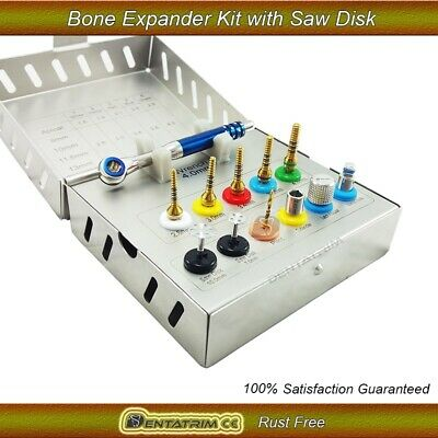 Bone Expander Dental Implant Screws Kit Trephine Sinus Saw Disk 12 Pcs Tools CE