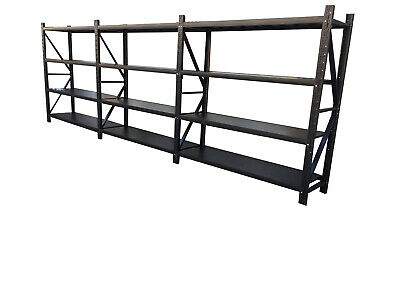 4.5M*2M*0.6M Garage Warehouse Metal Steel Storage Shelves Racking Racks Shelving