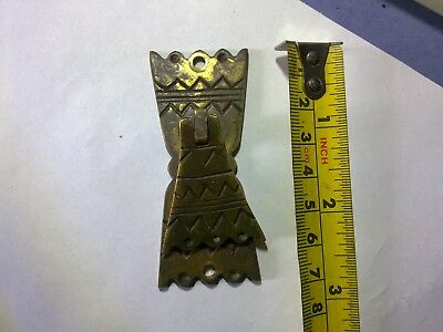Art Deco wardrobe handle, 7 cm, brass, antique or vintage (TM1)