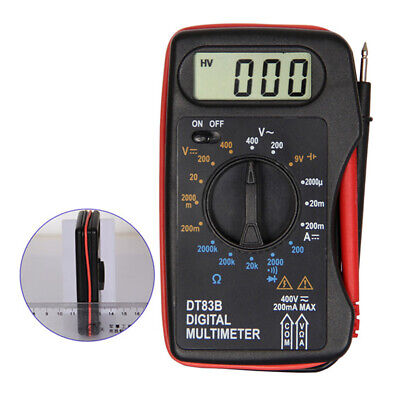 Portable LCD Display Current Ohmmeter Practical Digital Ultra-thin Multimeter