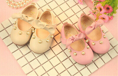 Fashion Bowties Baby First Walkers 0-3 Years Old Baby Girls Princess Shoes