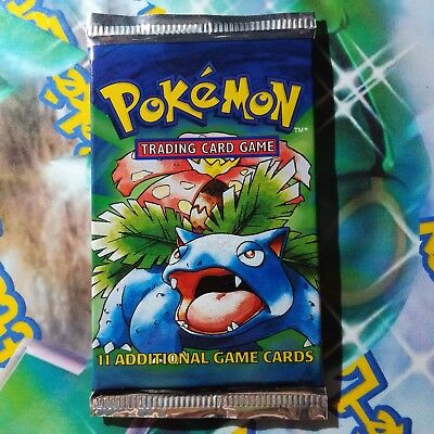 POKEMON Card Booster Pack BASE SET Unlimited ENGLISH Venusaur Artwork NO 1st ed