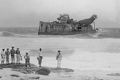 sms EMDEN Bombed & beached Cocos Islands 1914 2nd View modern digital Postcard