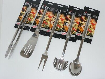 All-Clad Stainless Steel Cooking UTENSILS TONGS, FORK, SPOON, TURNER, PASTA FORK