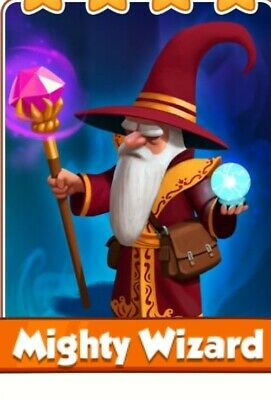 Coin master Might wizard.  All card's available