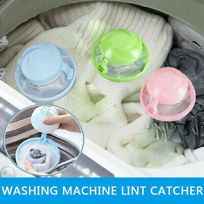 3Pcs Floating Pet Fur Catcher Reusable Hair Remover Tool for Washing Machine