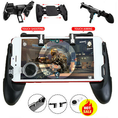 For PUBG Controller Mobile Game Shooter Trigger Fire V6.0 L1R1 Button & Game Pad