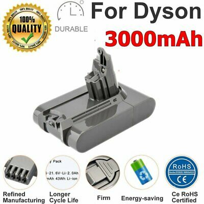 21.6V 3000mAh Battery for Dyson Absolute V6 DC58 DC59 DC61 DC62 D72 DC74 BC683