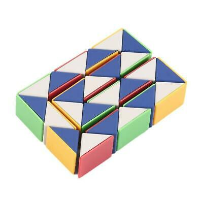 Coloured Puzzle Snake Party Bag Kids Children Toy 3D Magic Cube Twist Novelty U>
