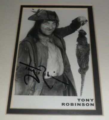 "ORIGINAL Signature TONY ROBINSON BALDRICK Signed Photocard 6"" x 4"" Mounted"