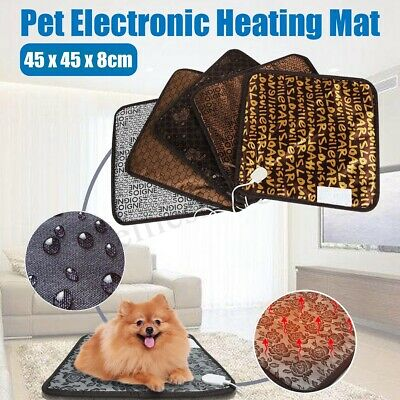 Pet Dog Cat Puppy Bunny Electric Heated Warmer Pad Mat Bed Waterproof Winter New