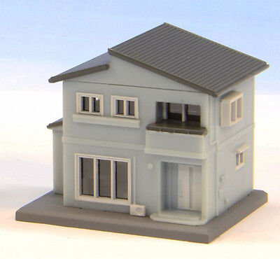 Rokuhan S043-2 Z Scale Two-Storied House B (Blue) (1/220 z scale)