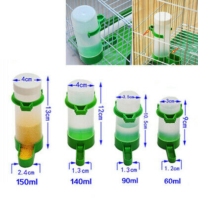 Automatic Food Water Bird Seeds Feeding Drinker Parrot Pet Clip Dispenser Cage