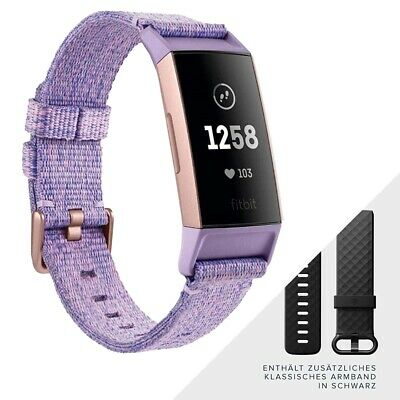 Fitbit Charge 3 Special Edition lavendel Fitnesstracker Fitnessarmband Sportuhr
