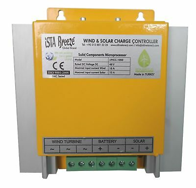 Charge Controller, 24v, 48v, 1000w+ Solar PV Module Connection, Wind Generator,