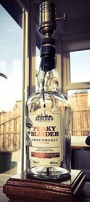 dc34dc8daa3 Handmade Peaky Blinder Industrial Bottle Lamp Sadlers Irish Whiskey Etsy  Gift