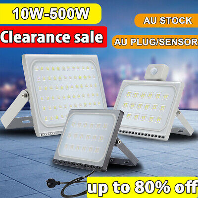 10W- 500W LED Flood Light Outdoor Garden Floodlights Security Lamp IP65 240V AU