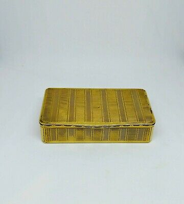 Antique French Gilt Snuff Box, Boîte En Pomponne, Late 18Th/early 19Th C.