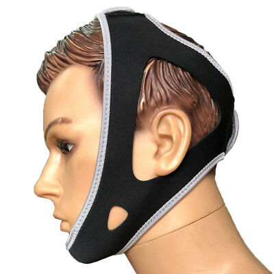 JT_ Anti Snore Stop Snoring Chin Strap Apnea Jaw Belt Adjustable Sleep Aids Ca