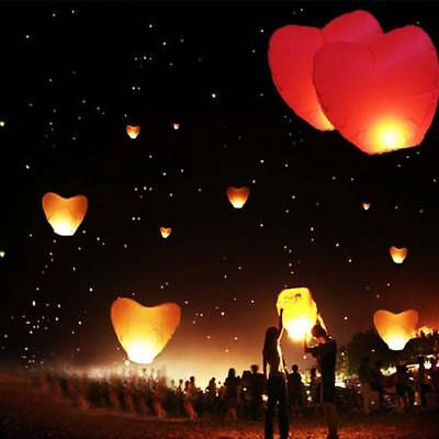 10PCS Mode Heart Party Wedding Candle Lamp Flying Sky Chinese Paper Lanterns