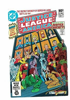 DC Comics Justice League of America no 195 Oct 1981 60c USA pin up attached