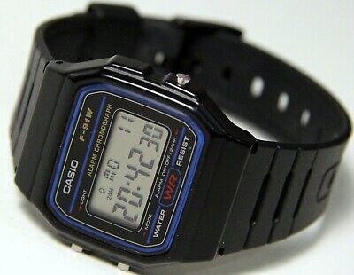 Casio Classic Digital Watch F91W 1 Mens Black Alarm Sports Chronograph Retro