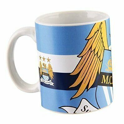 Mug - Official Manchester City MCFC Crest Football Club Fan Large Supporters Cup