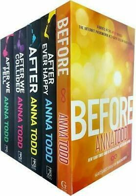 Anna Todd Before And After Series 5 Books Set Collection, After, After We Fell..