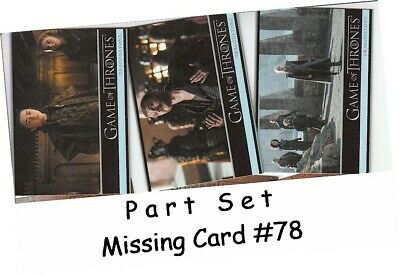 Game Of Thrones Season 7 Complete Basic Base Set 81 Cards Empty Wrappers