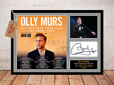 OLLY MURS SIGNED Photo Print ALL THE HITS TOUR 2019 Free Postage
