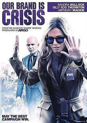 """Our Brand Is Crisis"" Dvd (New Sealed) Stars: Sandra Bullock, Billy Bob Thornton"
