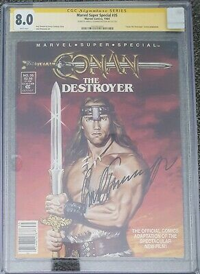 Marvel Super Special #35__CGC 8.0 SS__Signed by Arnold Schwarzenegger