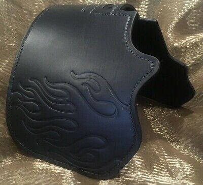 Harley Davidson Heat Shield captain itch black leather flame 10% off HC70