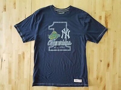 New York Yankees 1996 World Series Champions Navy Mens T-Shirt Sz Large  Mitchell a7e879faa