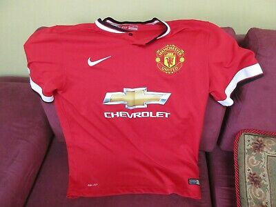 d8a3951f6e1 MEN S NIKE MANCHESTER United chevy Football Shirt jersey~~Red~Nice ...
