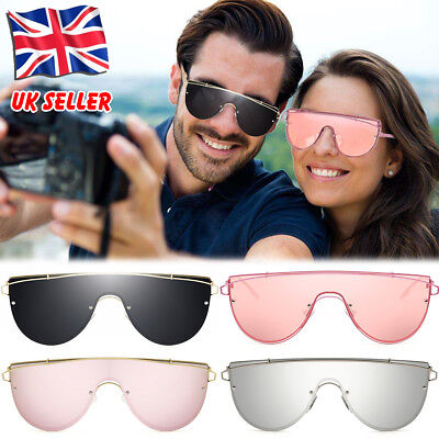 97a3ad198 ROSE GOLD Cat Eye Women Ladies Sunglasses Mirrored Aviator Reflective Retro  UK