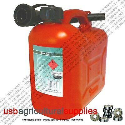 Fuel Can Tank 5 L Litre Red Plastic Petrol Diesel Next Day Delivery Container
