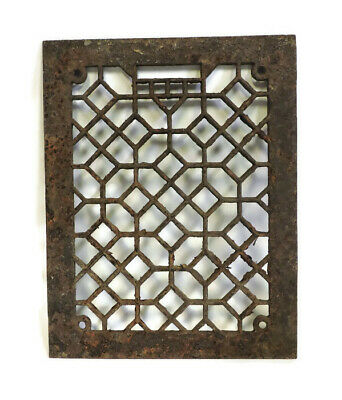 Antique Cast Iron Heating Grate Cover Only Unique Ornate Design 14 X 11