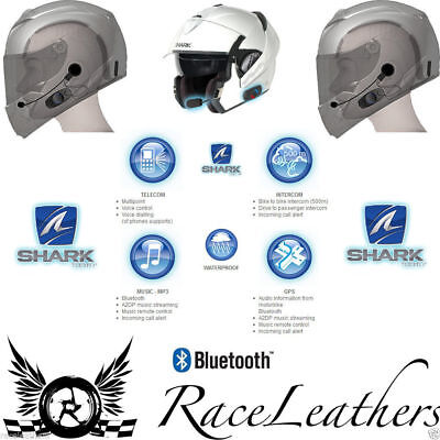 Shark Sharktooth Bluetooth Communication Unit Motorcycle Helmet Intercom System